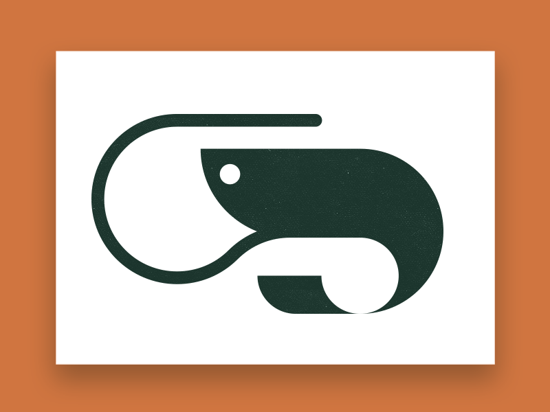 S Shrimp logo mark / monogram typography iconography icon designer illustration iconographer symbol designer brandmark logo designer logo design mark logo monogram design s monogram garnaal shrimp