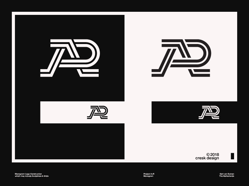 A+R Monogram Logo Design ar monogram logotype identity designer typography identity brandmark logo designer logo design mark logo