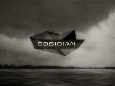 Obsidian Logo / Identity Design Concept logo typography logotype brandmark mark lettering identity geometry geometric facets obsidian polygons dynamic lava polygonal stone volcanic
