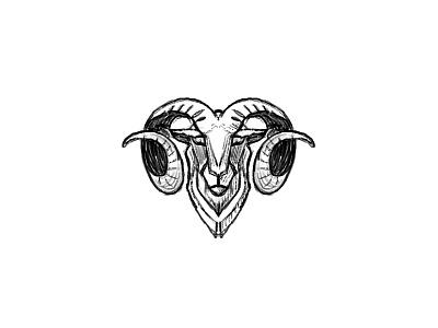 Ram - quick sketch pencil pencil sketch design branding identity designer logo designer cresk process sketch identity illustration animal brandmark logo design mark logo
