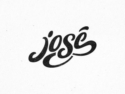 José josé logo lettering logo designer logotype custom brand identity design typography hand-drawn
