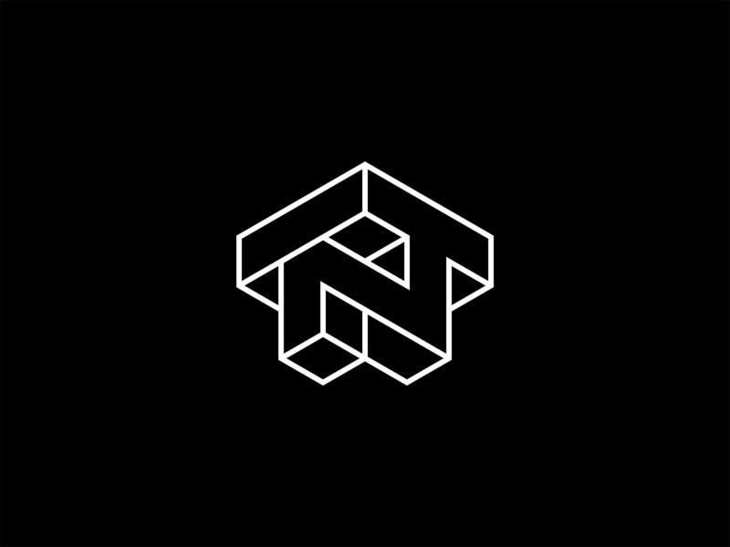 NT monogram monoline geometric design symbol monogram branding logotype icon designer symbol designer typography identity designer identity brandmark logo designer logo design mark logo