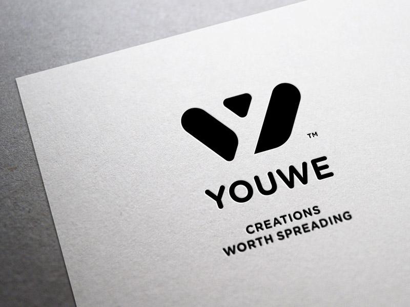 YouWe brand mark icon monogram symbol branding iconographer logotype icon designer symbol designer iconography typography identity designer identity brandmark logo designer logo design mark logo