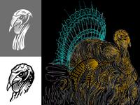 Illustration Process of a Turkey