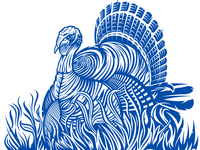 Wild Turkey Vector Packaging Artwork