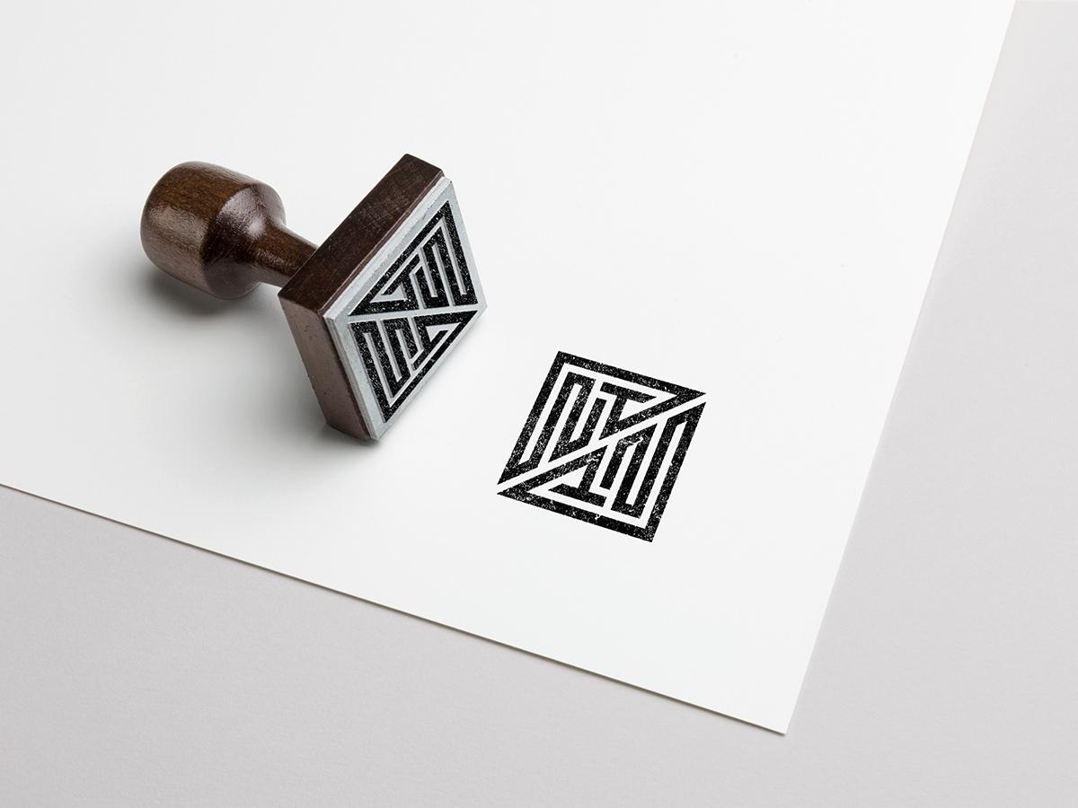 Stamp Nowhere Together stamp geometric typography cresk monogram logotype icon designer symbol designer iconography identity designer identity brandmark logo designer logo design mark logo