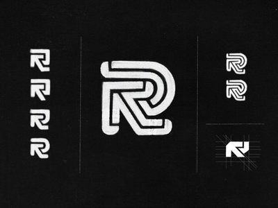 R Monogram / dogo design concept sketches letter r letter monogram logotype identity designer identity brandmark logo designer logo design mark logo