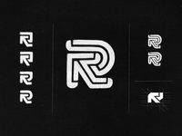 R Monogram / dogo design concept sketches