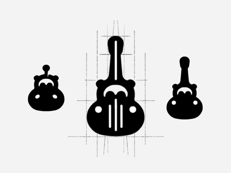 Hippo Guitars guitars guitar banjo hippo animal branding identity designer identity brandmark logo designer logo design mark logo