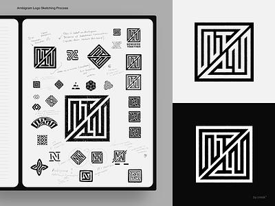 Logo Design (ambigram) Process logotype ambigram monogram identity brandmark logo designer logo design mark logo