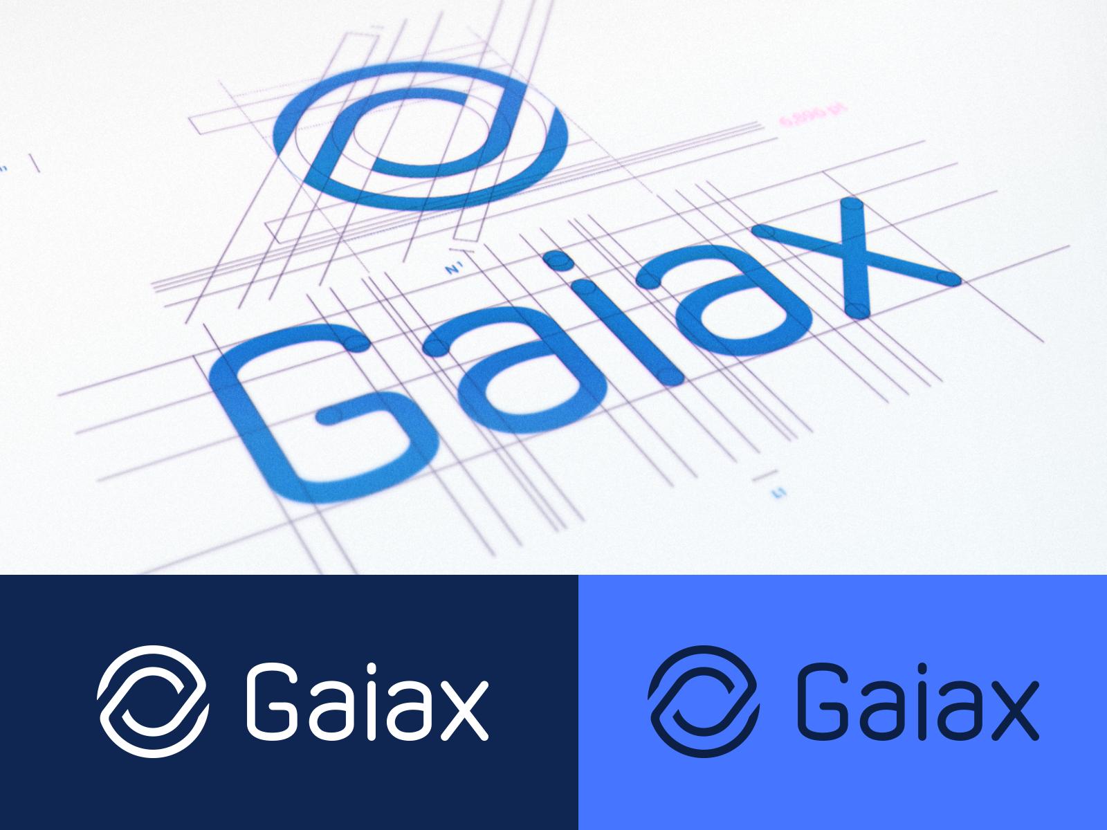 Dribbble gaiax logo sheet blue c
