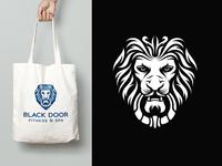 Lion Door Knocker Logo Design