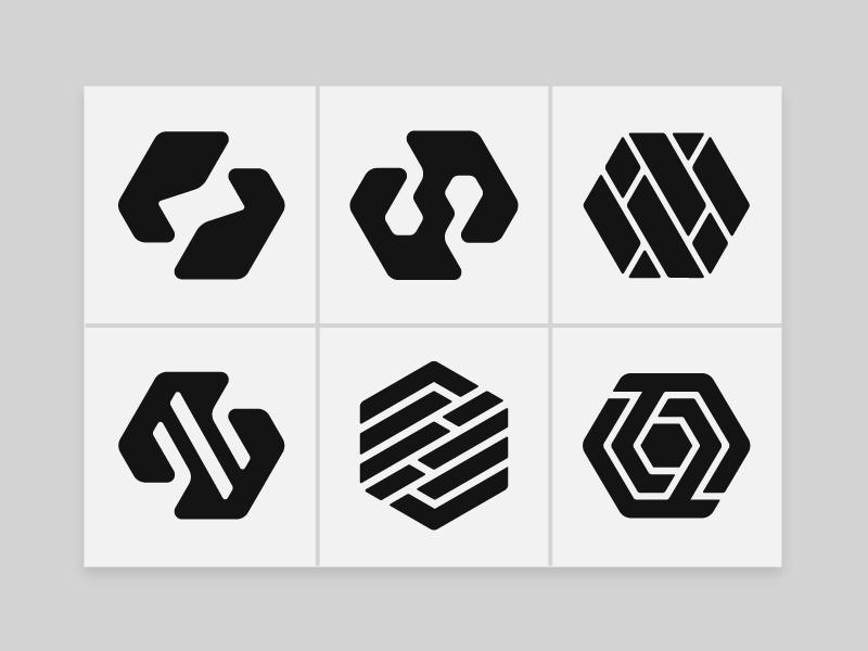 Logo Design - Hexa Marks Volume 001 icons logo designer hexagons ui design uidesign logofolio logo mark logo design geometry custom logo design brand marks brand mark branding brand identity