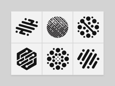 Logo Design - Data Marks - Volume 001 identity designer logo marks logofolio logo designer logo design icons ai data geometry custom logo design brand marks branding brand identity