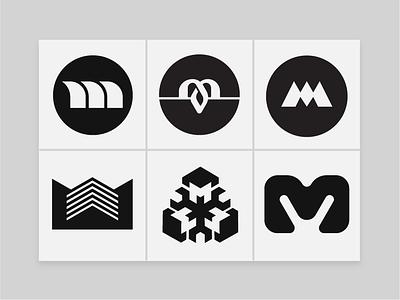 Mono Marks (M)  - Logo Design trademarks symbols best logo design logo designer logo design branding agency identity designer symmetric geometry icons custom logo design brand marks brand design brand identity monomarks