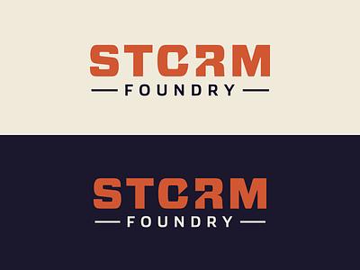 Storm Foundry - Custom Logo Design logotype wordmark logo designer color custom logo design
