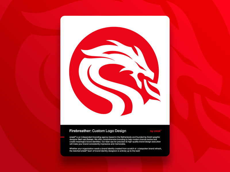 Custom Logo Design for Firebreather ui icons app icon icon brand typography brand identity identity designer custom logo design logo design logo designer mythical creature fire brandmark firebreather dragon