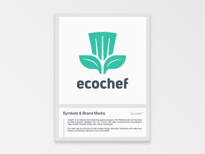 ecochef symbol & brand mark design