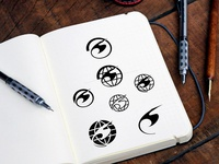 Flyways Logo Sketches - archive selection