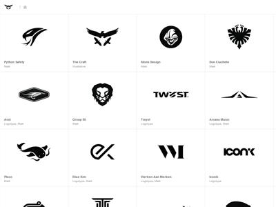New minimal b/w Logo Design Portfolio logo design portfolio logotype marks brand marks symbols icons typography lettering website minimal grid retina
