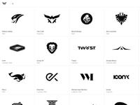 New minimal b/w Logo Design Portfolio