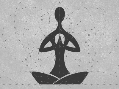 Yoga Logo Construction stage zen yoga logo african vibe yogi