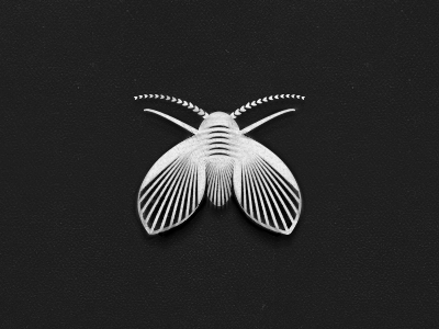 Moth - Logo Design logo design mark symbol moth illustration vector illustrator moth fly drain fly linocut woodcut style