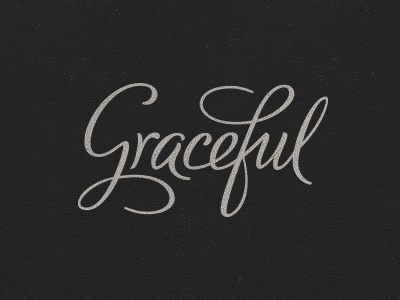 Graceful Lettering graceful hand-lettering typography lettering type logo logotype apps mobile developer