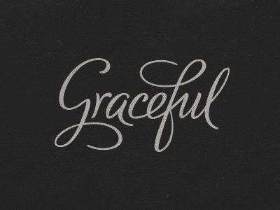 Graceful Lettering graceful hand-lettering typography lettering type logo logotype apps mobile developer