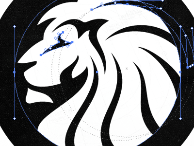 Reconstructing the Lion Head Logo lion head redesign logo mark brand proud confident vigilance powerful