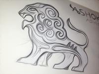 Sarnath Lion Logo Doodle