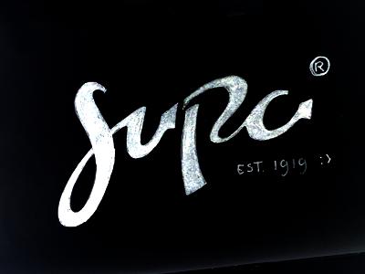 Supa Lettering Sketch polish soap supa logotype typography fun lettering sketch logo hand-lettering