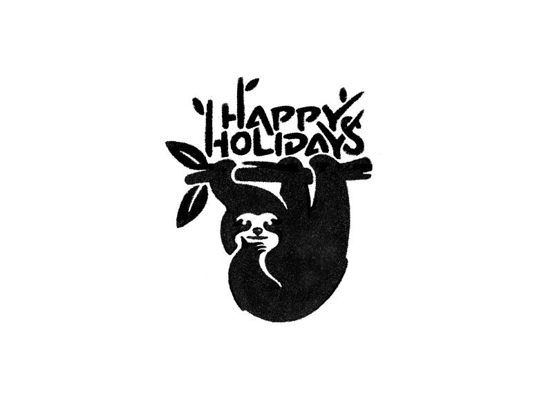 Happy Holidays animal icon designer branding identity designer symbol designer brandmark mark logo designer logo design logo