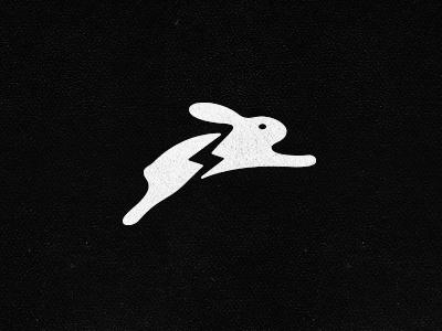 Sweet Danger Logo / Mark / Symbol rabbit lightning bolt electrifying leaping bunny logo mark shocked shocking spark energy energizing broken