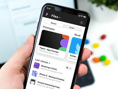 Figma App - Concept mockup concept iphone x ios app figmadesign figma