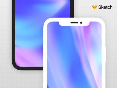 iPhone X - Mockup (Freebie) device freebie apple vector sketch mockup iphone iphone x