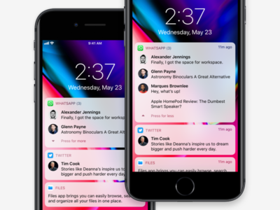 Unified Notifications on iOS - Redesign wwdc18 notifications ios 12 ios apple