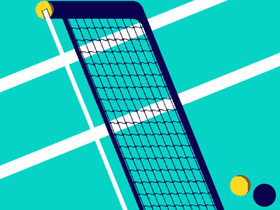Tennis Court light and shadows illustration tennis