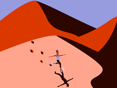 Running in the Desert design adobe illustrator light and shadow architecture minimalist light and shadows illustration