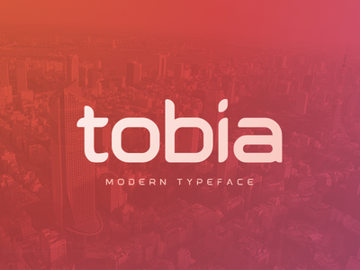 Tobia - Modern Typeface modern type design illustration tobia custom typeface font