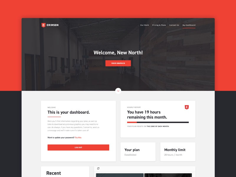 Dashboard wordpress ux ui layout dashboard client