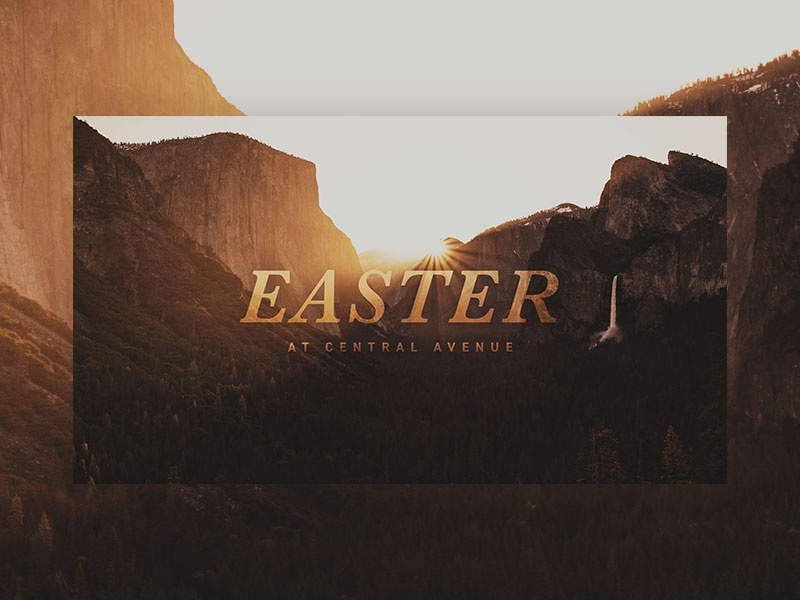 Easter at Central slides series sermon graphic church ohio columbus easter