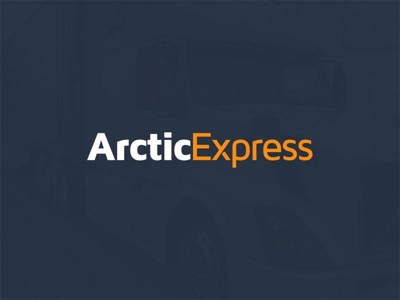 Arctic Express Wordmark truck trucking logistics ohio columbus orange blue express arctic
