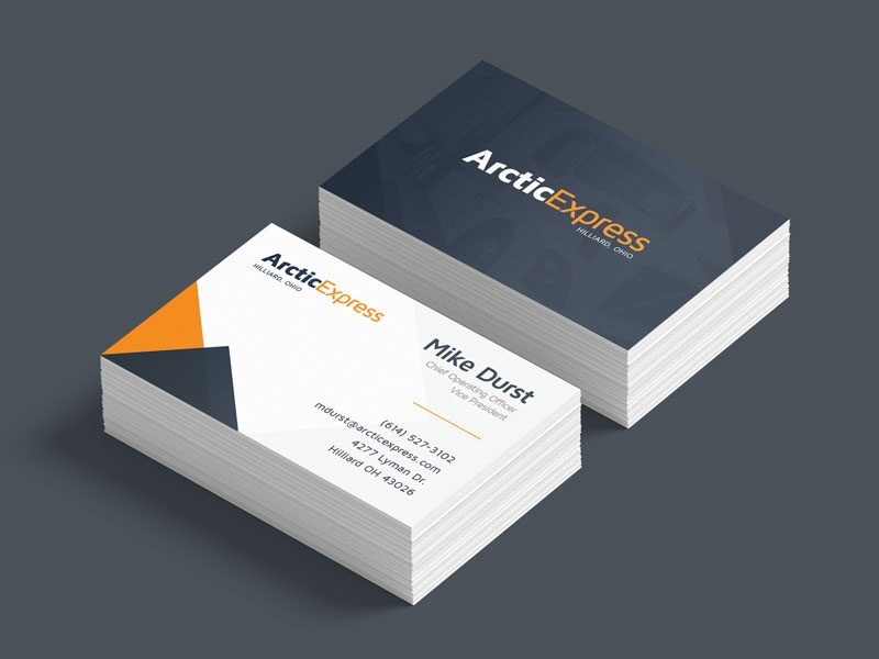 Arctic Express Business Cards By Nik Williams Dribbble Dribbble