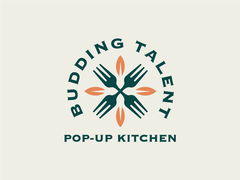 Budding Talent restaurant bar culinary fork flower talent budd budding ohio columbus