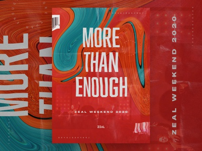 More Than Enough – Concept C poster art group youthgroup youth 2020 conference sermon series church columbus ohio