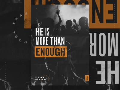 More Than Enough – Concept A poster conference 2020 group youthgroup youth art sermon series church columbus ohio