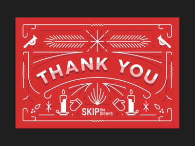 SkipTheDishes Thank You Card