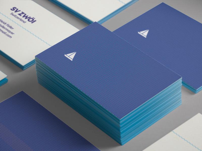 Zwoei print illustration minimal graphic design business card