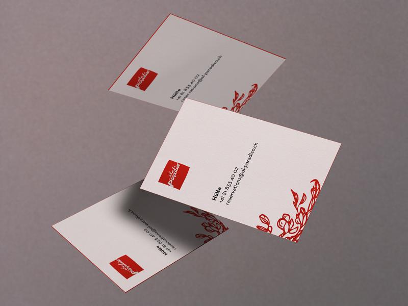 el paradiso business cards print illustration minimal business card graphic design
